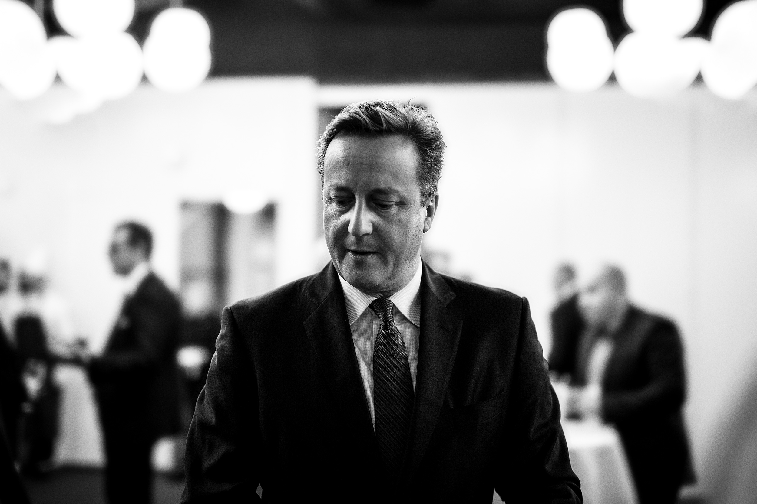 David Cameron Thoughtful Moment